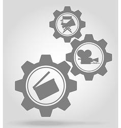 gear mechanism concept 08a vector image vector image