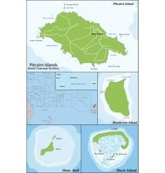 Pitcairn Islands map vector image