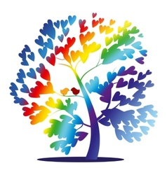 rainbow tree vector image vector image
