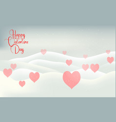 valentines day snow winter light card vector image