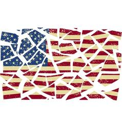 Broken-down American flag vector image vector image