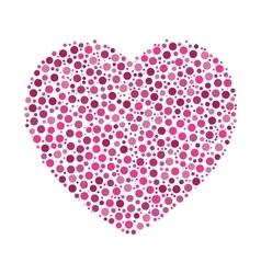 Heart mosaic of dots vector image