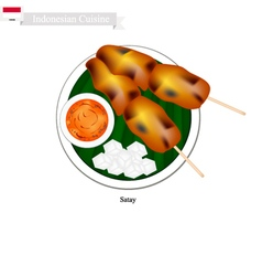 Satay or Indonesian Style Barbecue vector image vector image