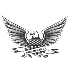 American bald eagle emblem vector