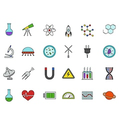 Science colorful icons set vector image