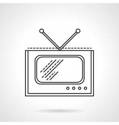 Flat line TV icon vector image