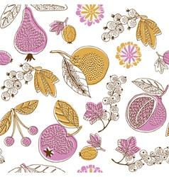 fruit season print vector image