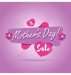 Mothers Day sale banner vector image vector image