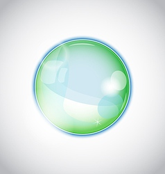Pearl bubble ball isolated on white background vector image vector image