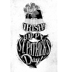 Poster St Patrick vector image vector image