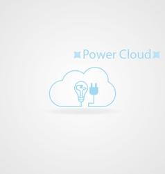 Power cloud logo vector image