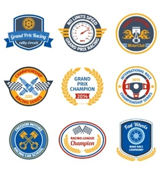 Racing emblems colored vector image