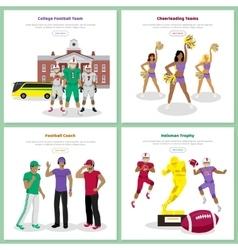 Set of American Football Conceptual Web Banners vector image
