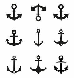 Set of Anchor vector image vector image