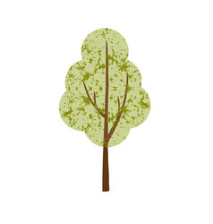 single textured tree vector image