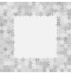 400 Grey Puzzles Frame vector