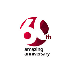 60 th amazing anniversary celebration template vector