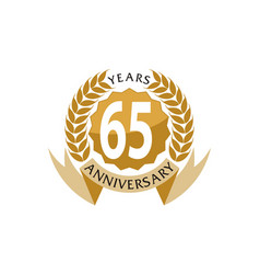 65 years ribbon anniversary vector image vector image