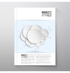Abstract background of paper speech bubble with vector image