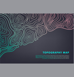 Abstract topography map banner topographic vector