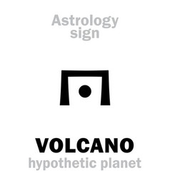 Astrology circumsolar planet volcano vulcan vector
