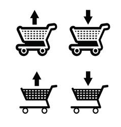 basket shop black vector image