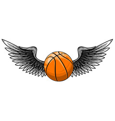 basketball template with wings vector image
