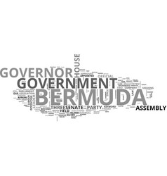 Bermuda government text word cloud concept vector