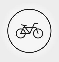 bicycle universal icon editable thin vector image
