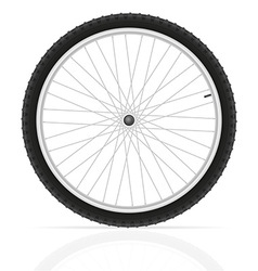 bicycle wheel 01 vector image