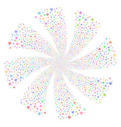 Biohazard fireworks swirl flower vector