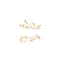 blank banner with golden confetti isolated on vector image