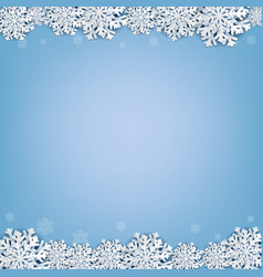 blue background with snowflake vector image