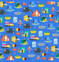 cartoon alternative medicine background pattern on vector image
