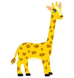 Cartoon animal giraffe vector image
