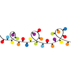 Christmas lights holiday festive round xmas vector