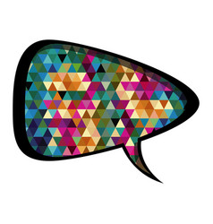Colorful rounded triangular speech with abstract vector