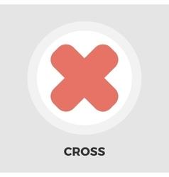 Cross flat icon vector image