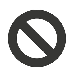denied symbol circle icon vector image