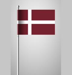 denmark orlogsflaget variant flag national flag vector image