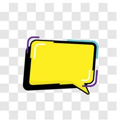 Dialogue box cartoon concept popart style vector