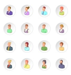 Different people icons set vector