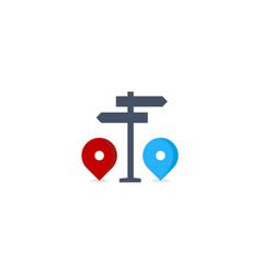 direction route logo icon design vector image