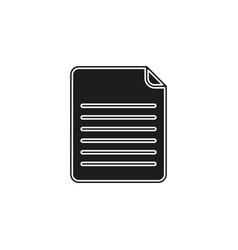 document icon logo element vector image