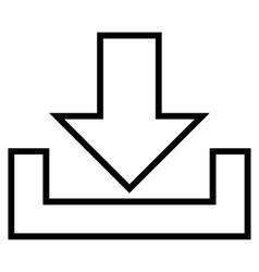 Downloads thin line icon vector