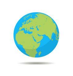 earth icon globe planet symbol in flat style vector image