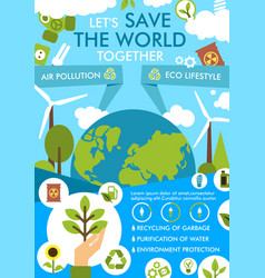 Environment and ecology protection flat banner vector
