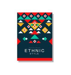 ethnic style original design ethno tribal vector image