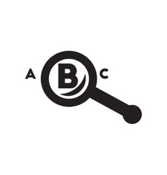 flat icon in black and white style magnifying vector image