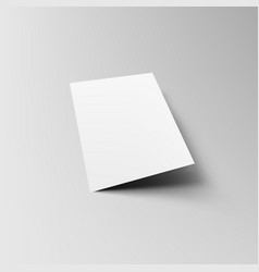 Folded a5 or a4 brochure mock-up template vector